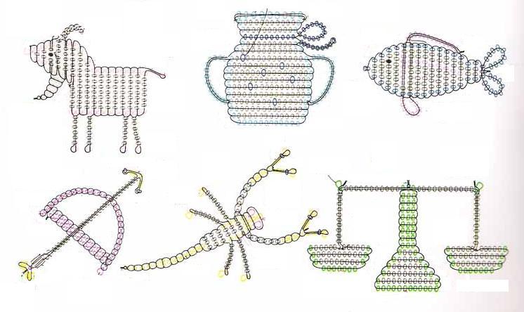 схемы картины из бисера.