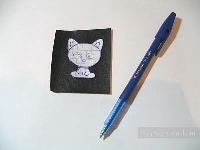 Рисуем кошку для вышивки