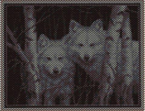плетем картины из бисера.