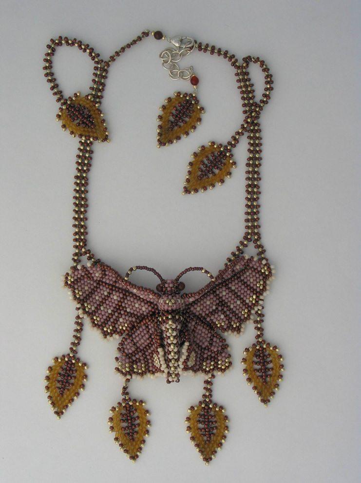 Колье бабочка из бисера от Huib Petersen