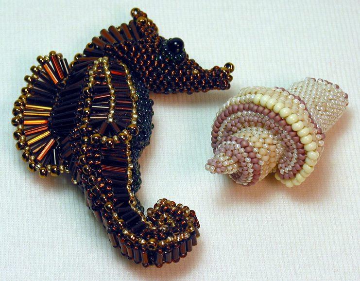 Морской конек и ракушка от Huib Petersen