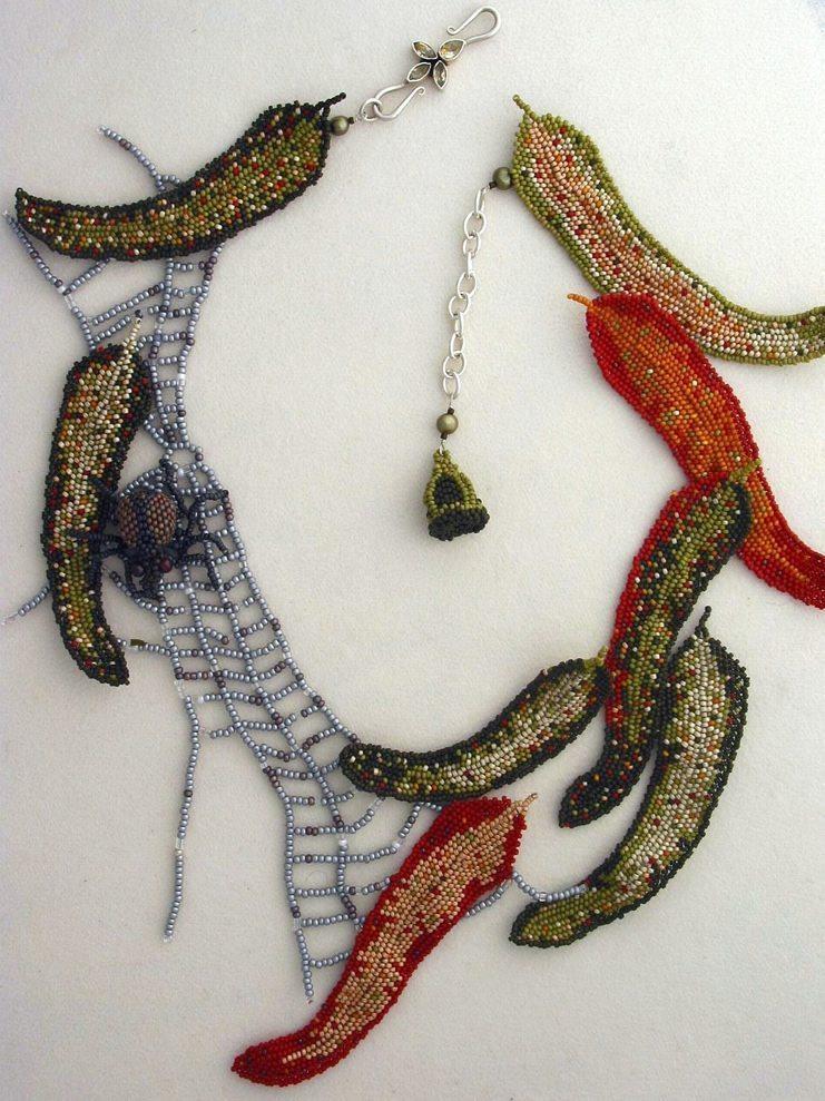 Колье из бисера от Huib Petersen