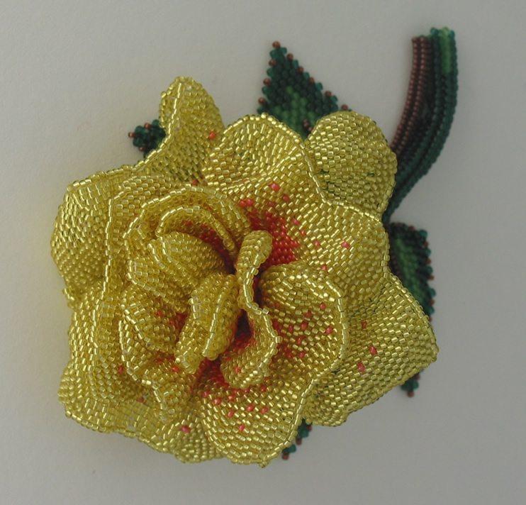 розы из бисера Huib Petersen