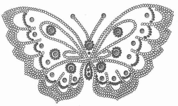 бабочка вышивка