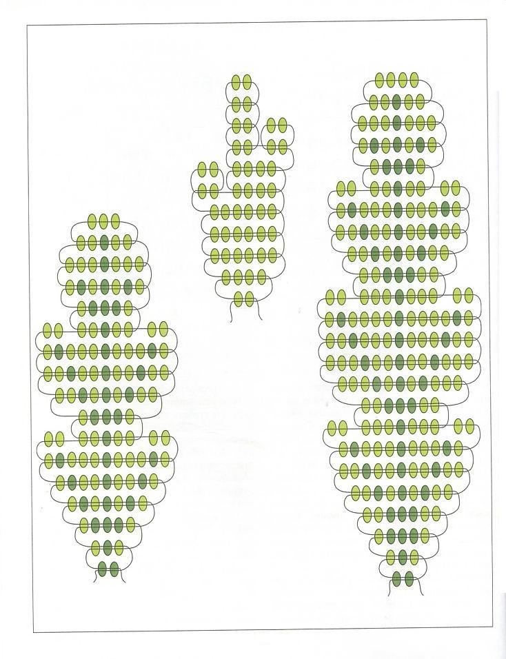анютины глазки из бисера схема