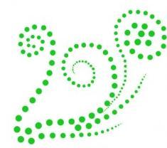 Зеленый узор из бисера на одежду
