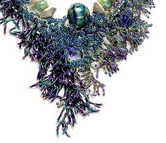 Кораллы ожерелье из бисера