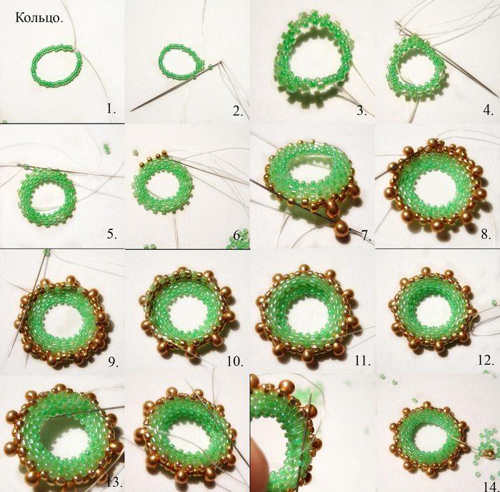 круг из бисера