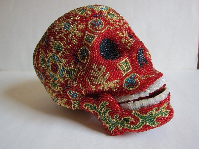 череп из бисера