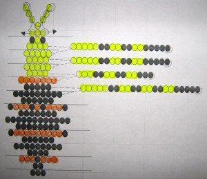 Схема плетения объемного паука