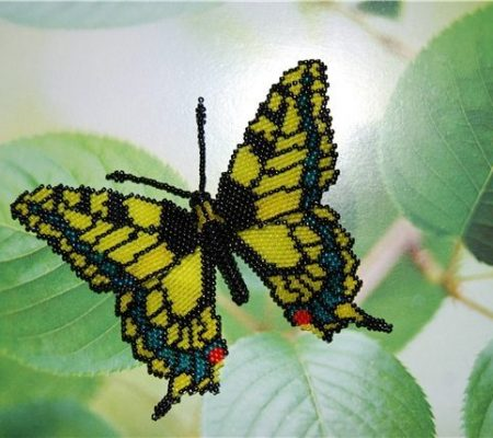 Бабочка из бисера - мастер-класс