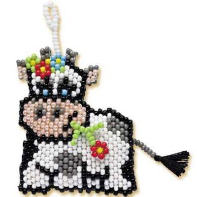 Схема вышивки коровы из бисера