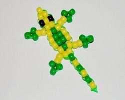 Ящерица из бисера - схема плетения