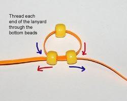 Процесс плетения ящерицы из бисера-2