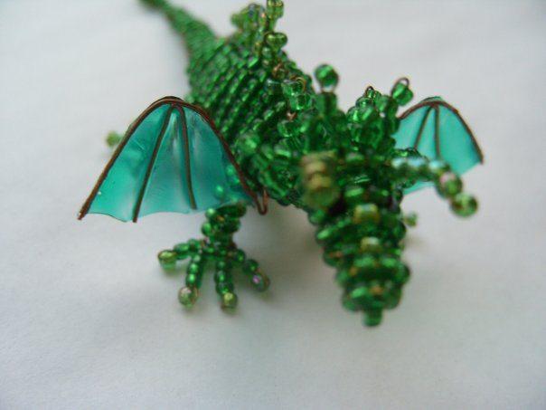 дракоша из бисера