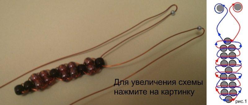 схема плетения туловища бабочки