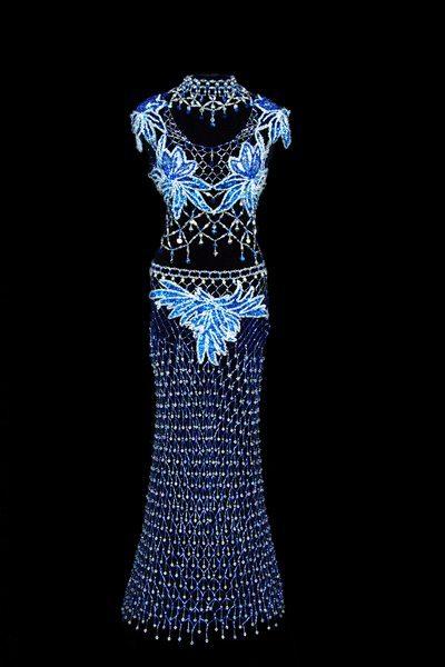 Платье сделанное из бисера-2