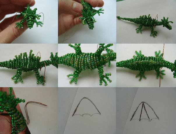 красивый дракон из бисера