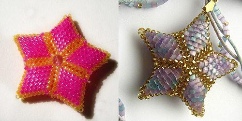 Плетем звезду из бисера