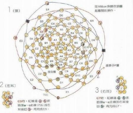 Схема плетения мишки бисером