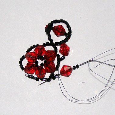Вечерний b браслет /b Плетение бисером.