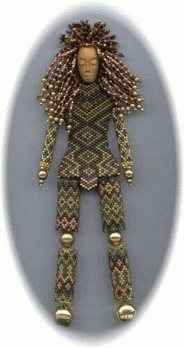 бисерная кукла