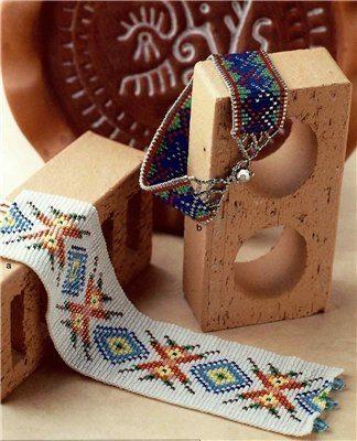 самотканные браслеты из бисера