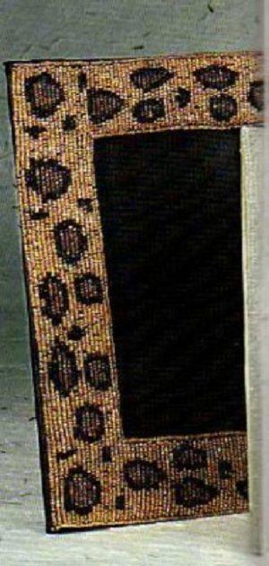 леопардовая рамка из бисера