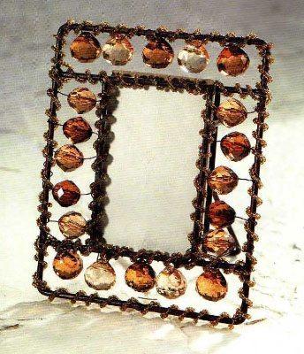 Бисерная рамка с бусинами