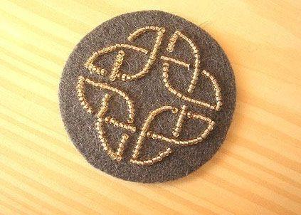 Кельтские мотивы из бисера.
