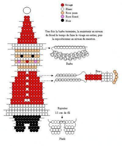 схема плетения дед мороз