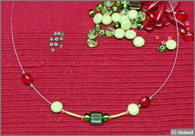 Ожерелье из бисера и бусин - мастер-класс