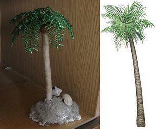 бисерная пальма