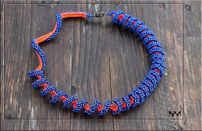Бисероплетение салфетка тигры из бисера, плетение из бисера фото.