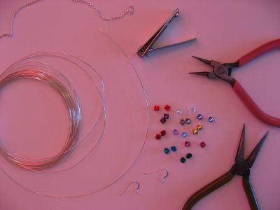 Каскадные серьги из бусин - материалы