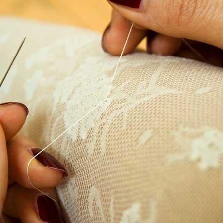 вышиваем бисером колготки