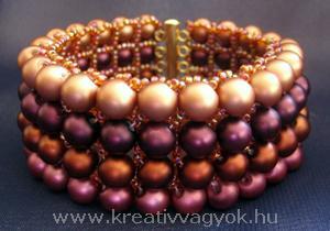 Бисерный браслет с бусинами