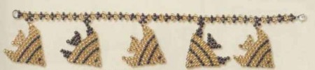 плетение рыбок из бисера