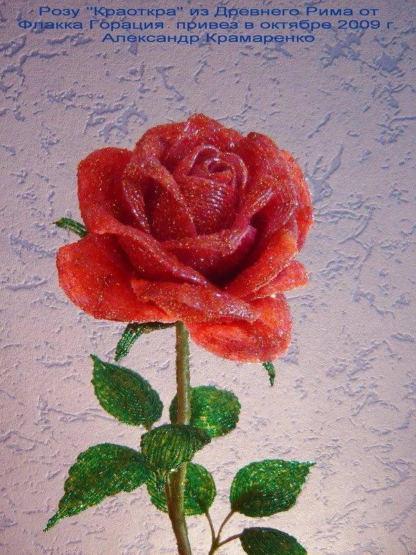 Александр крамаренко мастер класс по розам из бисера - Master class.