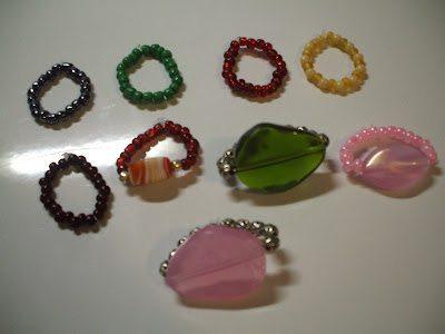 кольцо из бисера детское