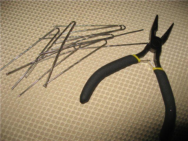 Инструменты для подсвечника из бисера