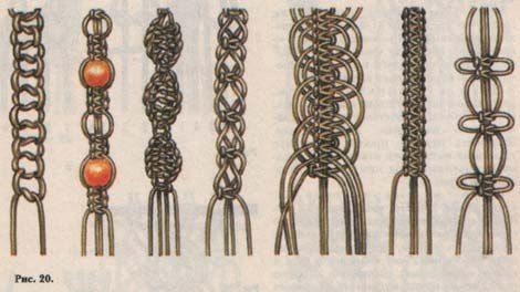 Пошаговая схема плетения браслета шамбала.  Материалы: 240 см х 1 мм вощеного шнура 7шт.