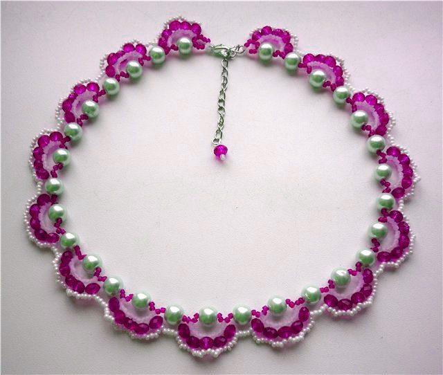 Ожерелье из бисера. Схема
