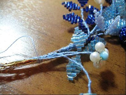 плетеный бисером венок