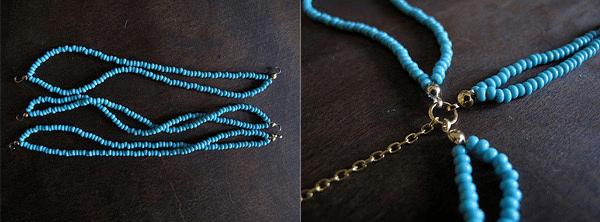 бирюзовое ожерелье своими руками