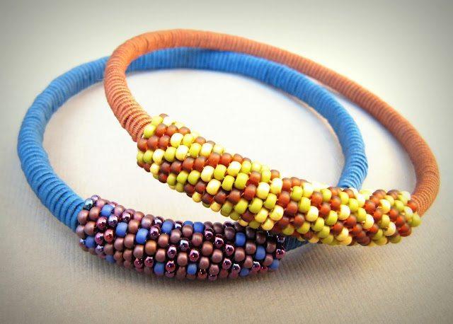 плетеный браслет в мозаичной