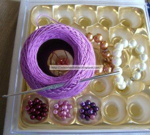 Материалы для вязаного ожерелье из бусин