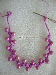 вязаное ожерелье своими руками