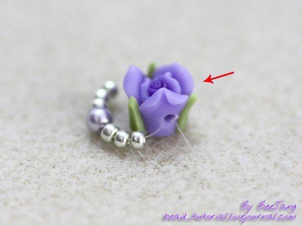 Плетём браслет из бисера с розами