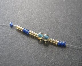 Ажурный браслет из бисера: схема плетения 1